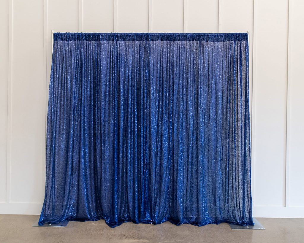 Photo Booth Backdrop - Blue Sequin