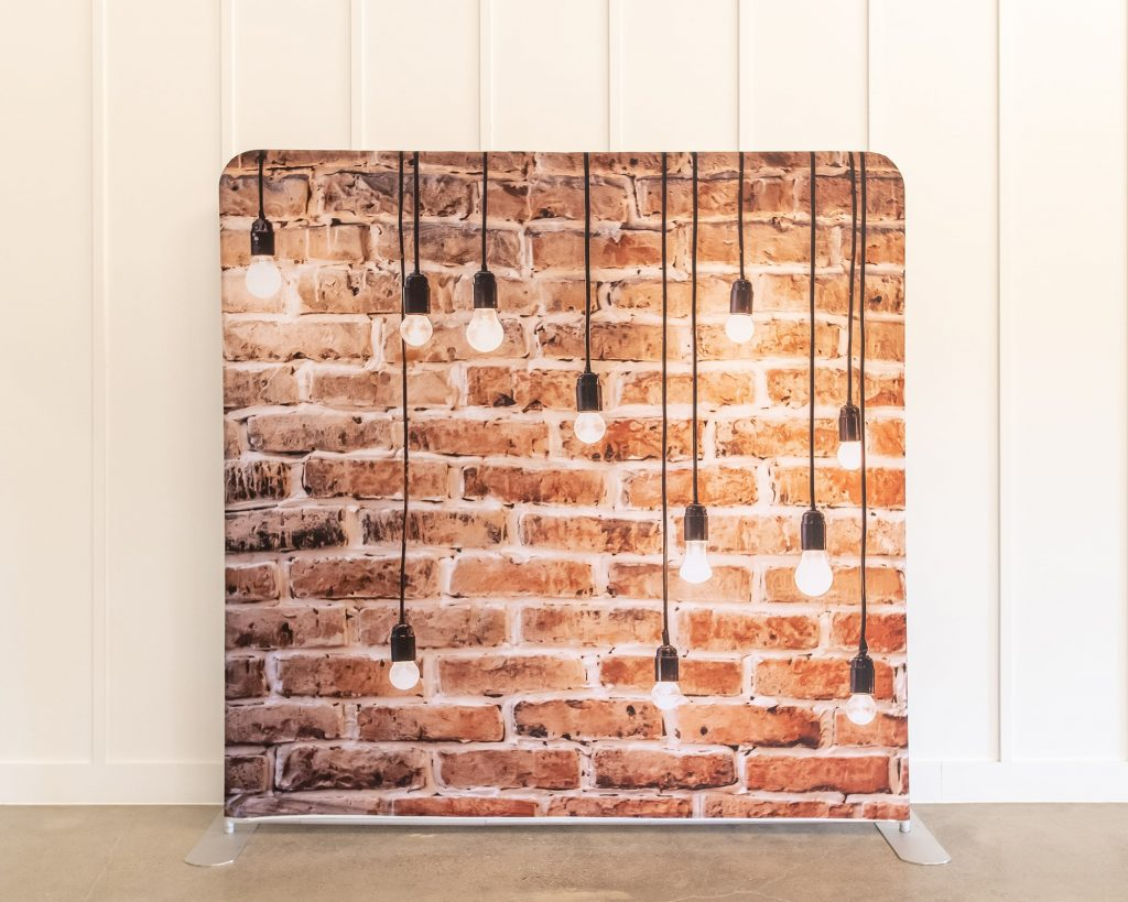 Photo Booth Backdrop - Brick Bulb