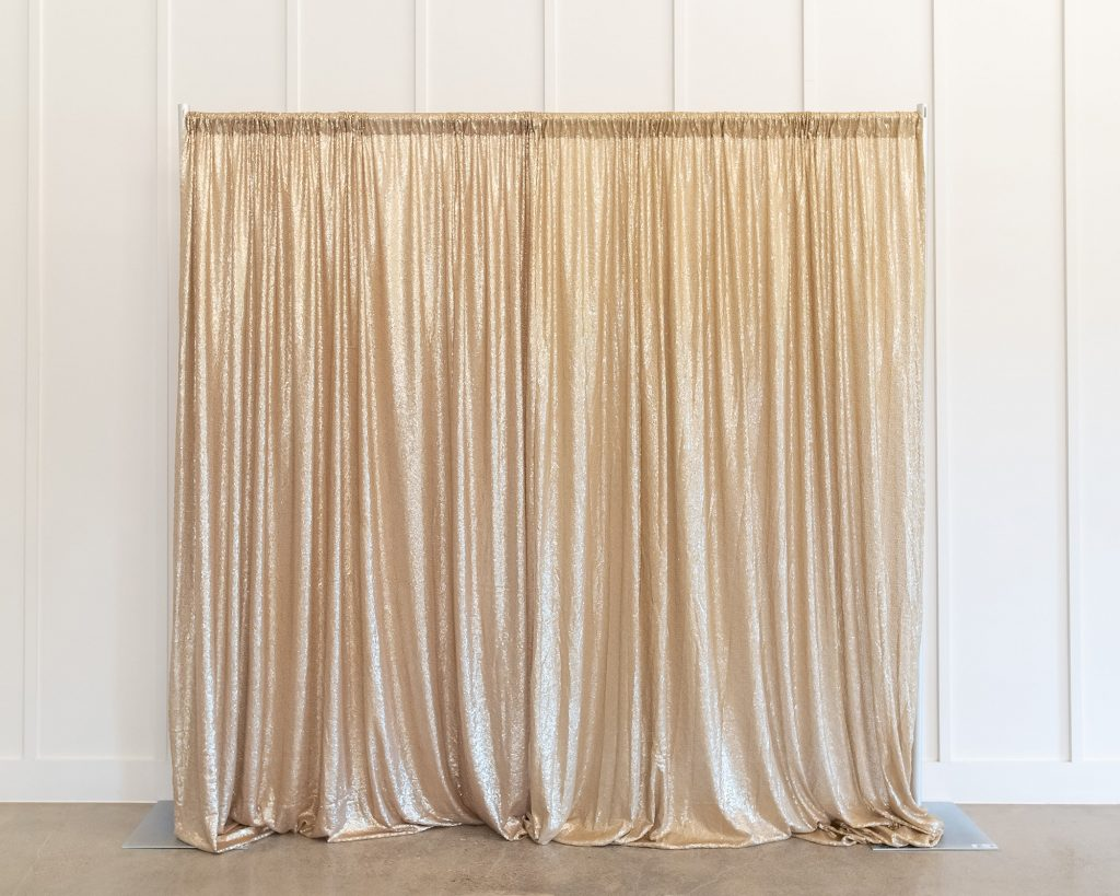 Photo Booth Backdrop - Champagne Sequin