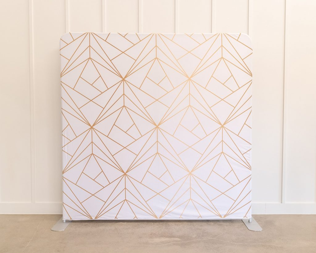 Photo Booth Backdrop - Gold Geo