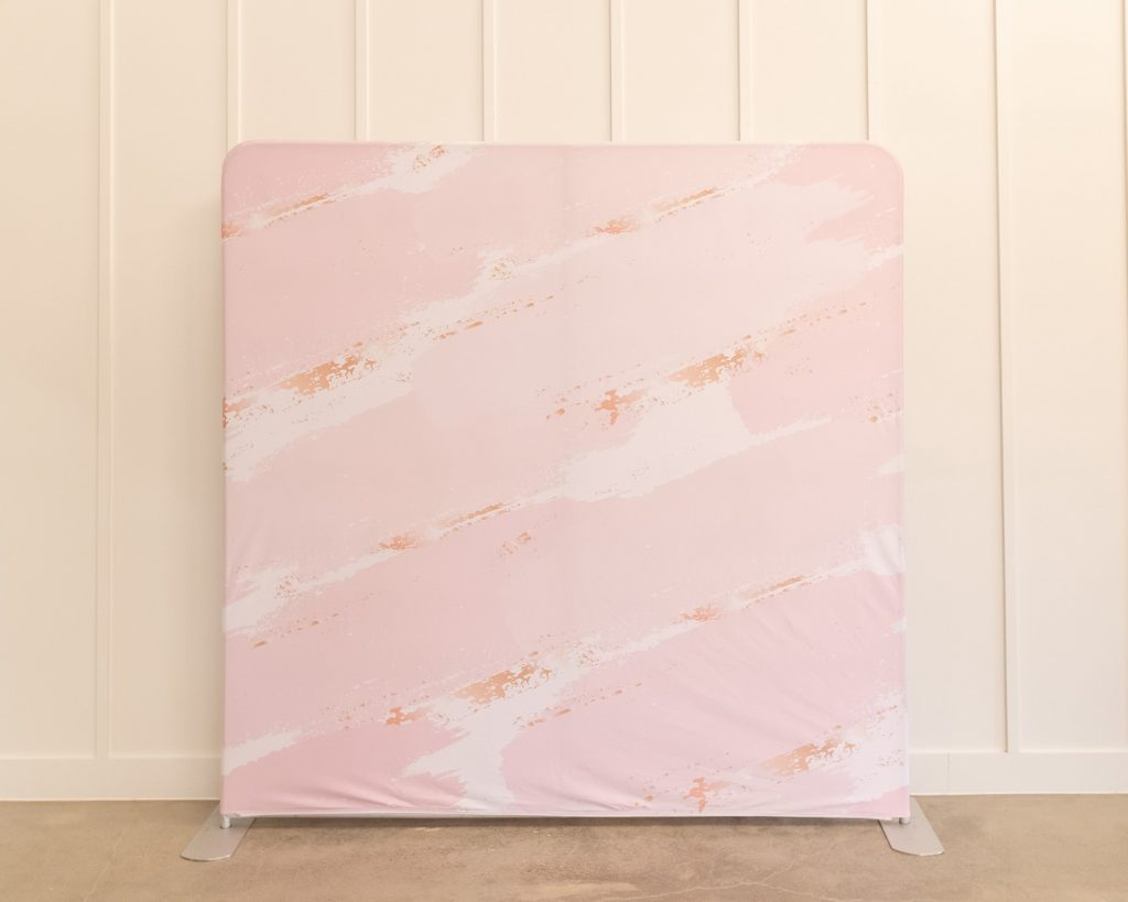 Photo Booth Backdrop - Pink and Gold Marble