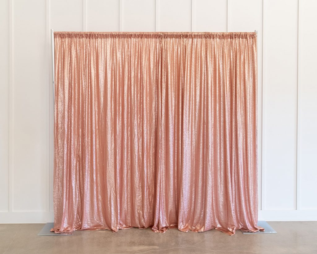 Photo Booth Backdrop - Rose Gold Sequin