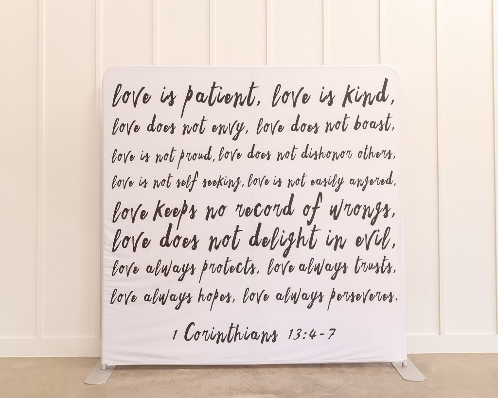 Photo Booth Backdrop - Scripture