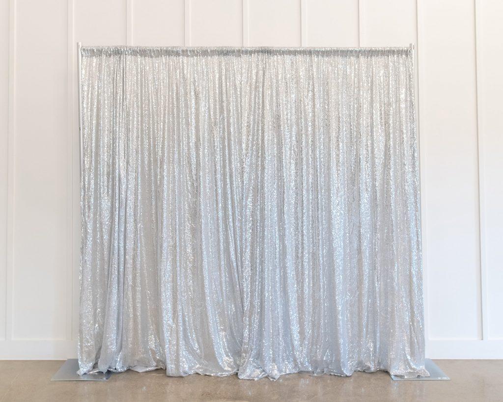 Photo Booth Backdrop - Silver Sequin