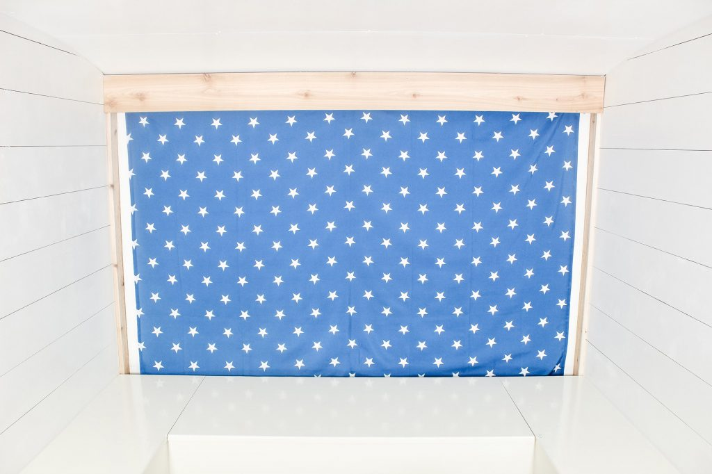 Photo Camper Backdrop - Blue Stars