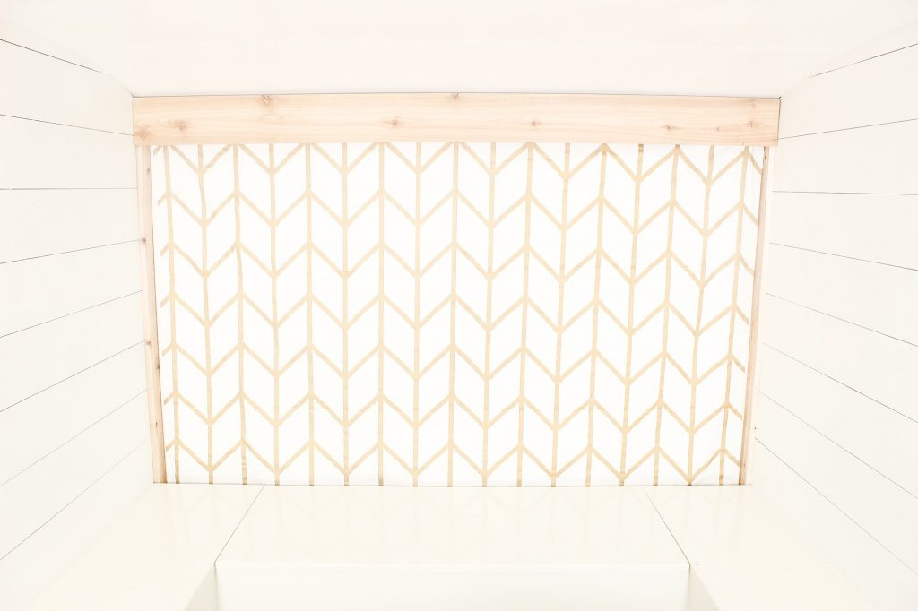 Photo Camper Backdrop - Gold Chevron