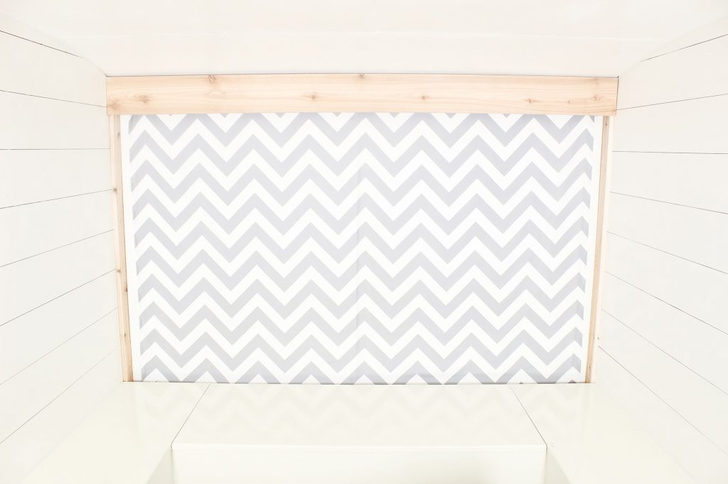 Photo Camper Backdrop - Grey Chevron