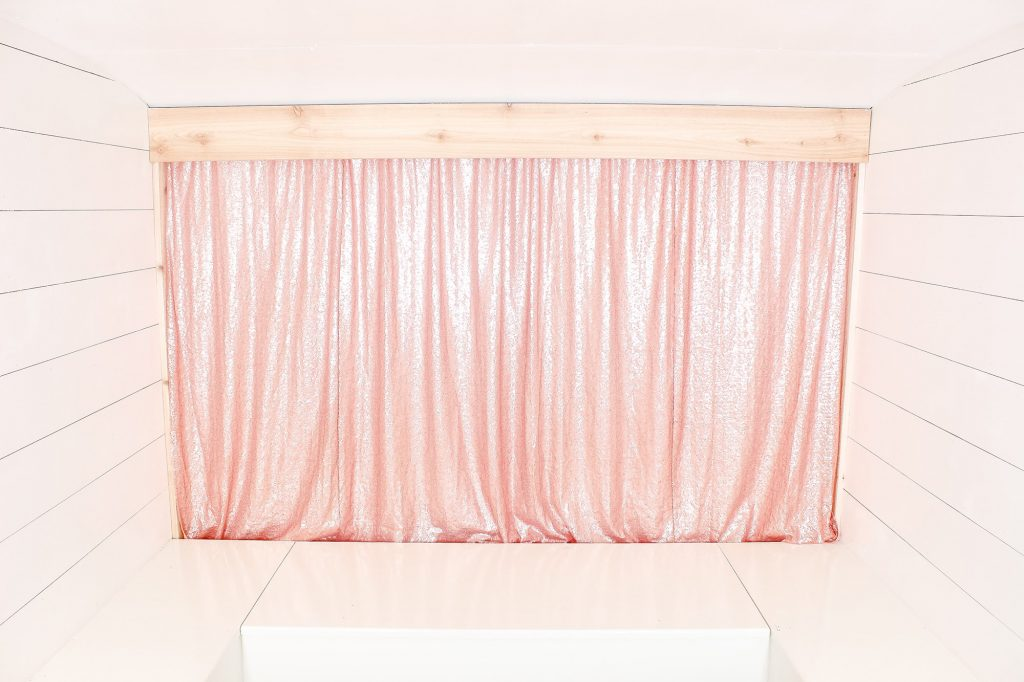 Photo Camper Backdrop - Rose Gold