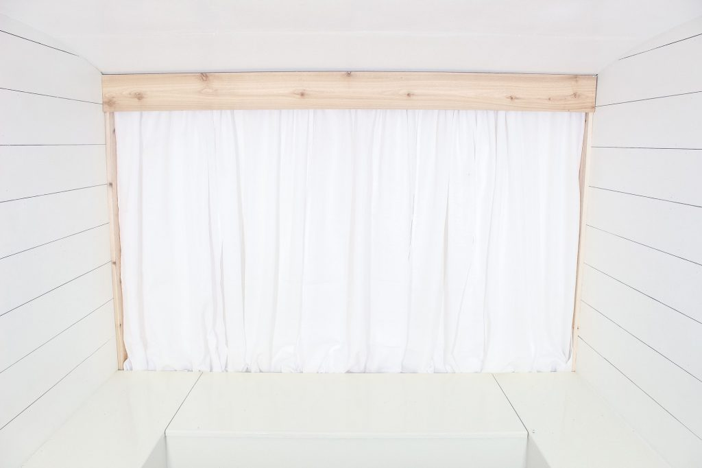Photo Camper Backdrop - White